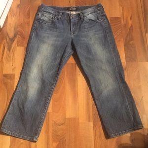 (Capris) Blue Lucky Size 6 Jean Capris